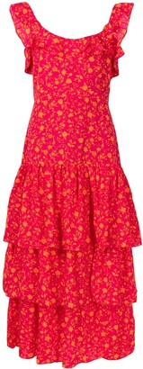 LIKELY Janie floral-print cotton dress