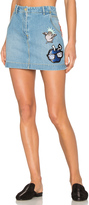Kenzo Stone Washed Denim Skirt