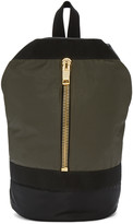Palm Angels Green Military Backpack
