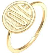 Elli Women Ring Necklace 925 Sterling Silver Gold Plated LOVE Size 56mm 0602781816