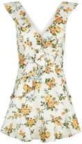 Zimmermann Golden Flutter Floral Dress