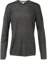 John Varvatos reverse print long sleeve sweater - men - Silk/Cashmere - M