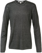 John Varvatos reverse print long sleeve sweater - men - Silk/Cashmere - S