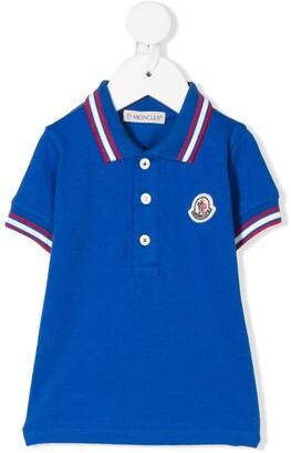 Moncler Enfant Logo-Patch Polo Shirt