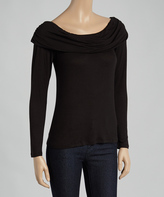 Celeste Black Off-Shoulder Top