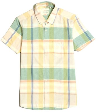 Far Afield Casual Button Short Sleeve Shirt - Vadella Check