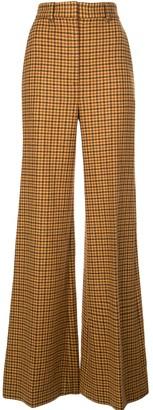 KHAITE Flared Gingham Trousers