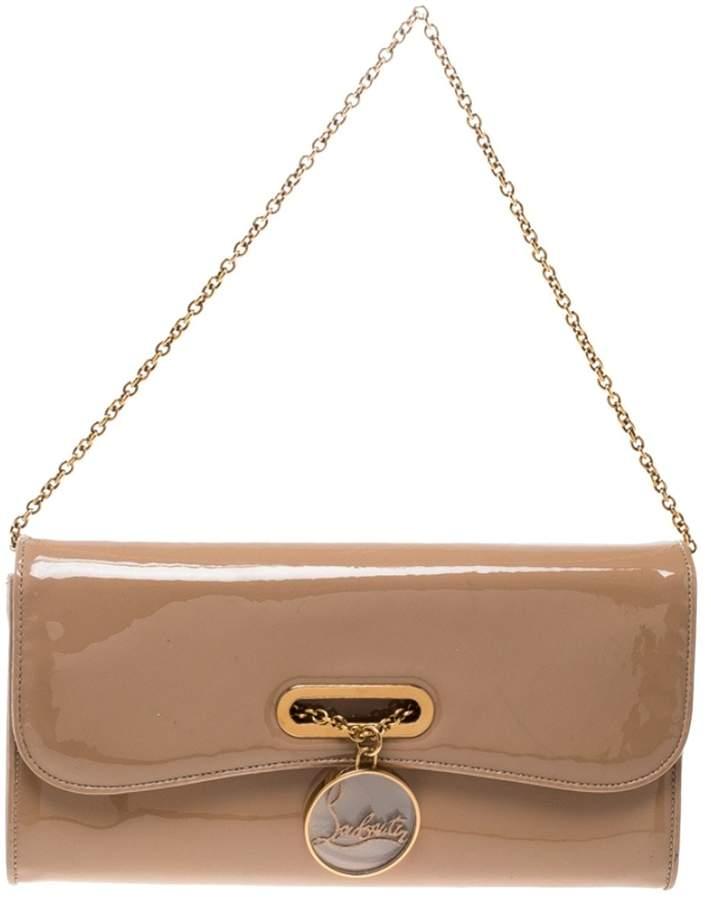52dfd9fe054 Riviera Beige Patent leather Clutch Bag
