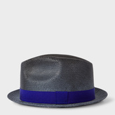 Paul Smith Men's Slate Blue Woven Trilby Hat