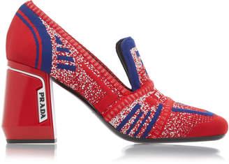 Prada Chunky Heel Knit Loafer Size: 37.5