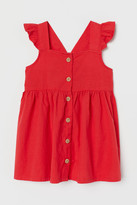 H&M Flared Cotton Dress - Red