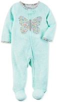 Carter's 1-Pc. Floral-Print Butterfly Footed Coverall, Baby Girls (0-24 months)