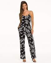 Le Château Tropical Print Knit Slim Leg Jumpsuit