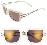 KENDALL + KYLIE Women's Bianca 56Mm Cat Eye Sunglasses - Black/ White Marble/ Black