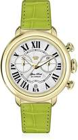 Glam Rock Women's GR77137 Bal Harbour Green Genuine alligator Band Watch.