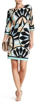 Sandra Darren Abstract Print Shift Dress