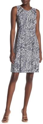 MSK Sleeveless Grommet Dress