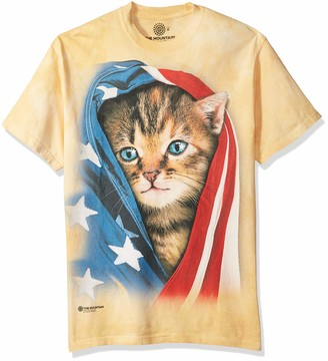 The Mountain Patriotic Kitten Adult T-Shirt
