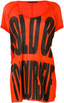 Haider Ackermann slogan print T-shirt - women - Cotton/Nylon/Rayon - S