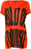 Haider Ackermann slogan print T-shirt - women - Cotton/Nylon/Rayon - XS