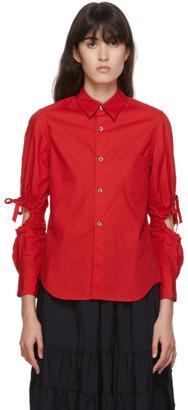 COMME DES GARÇONS GIRL Red Poplin Arm Hole Shirt
