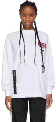 Palm Angels White ICECREAM Edition Skull Long Sleeve T-Shirt