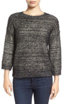 Halogen Metallic Eyelash Knit Sweater (Regular & Petite)