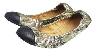 Chanel Metallic Leather Ballet flats