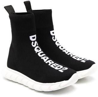 DSQUARED2 Jacquard Logo Mesh Sneakers