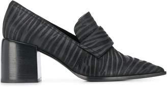 Casadei zebra block heel pumps