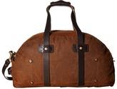 Billy Reid Worn Leather Double Zip Duffel Bag