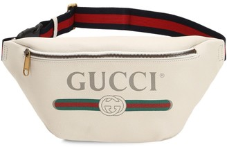 Gucci Large Print Leather Belt Bag