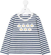 Familiar striped daisy print top