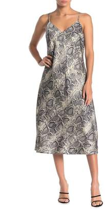 Love Stitch Snake Print Sleeveless Slip Dress
