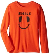 Life is Good Headphone Smile Long Sleeve Tee (Little Kids/Big Kids)