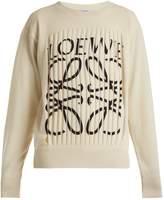 Loewe Logo-print fringe cashmere sweater