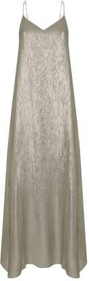 Marie France Van Damme Metallic Racer Back Maxi Dress