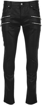 Balmain Skinny Zip Detail Jeans