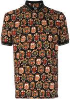 Dolce & Gabbana insignia print polo shirt