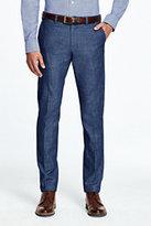 Lands' End Men's Chambray Trouser Pants-Indigo Chambray