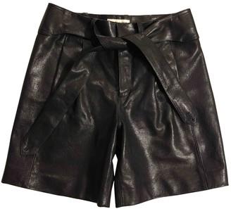 Saint Laurent Pink Leather Shorts for Women