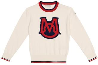 Moncler Enfant Logo cotton sweater
