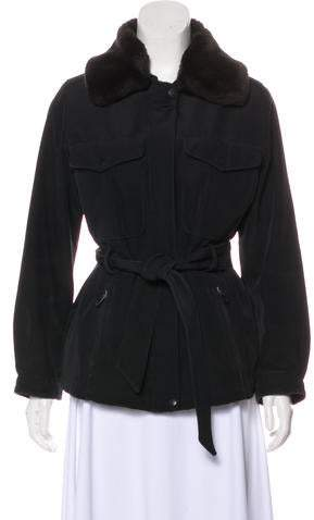 Andrew Marc Faux Fur-Trimmed Jacket