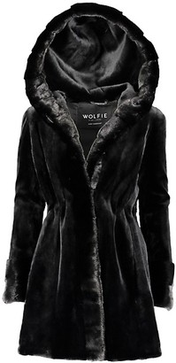 Wolfie Fur Made For Generations Premium Sheared Mink Fur Hooded Jacket