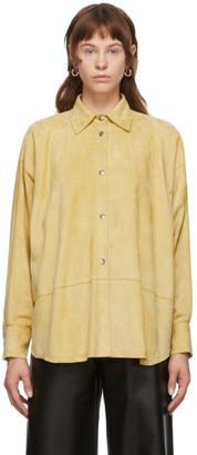 Loewe Yellow Suede Oversized Shirt