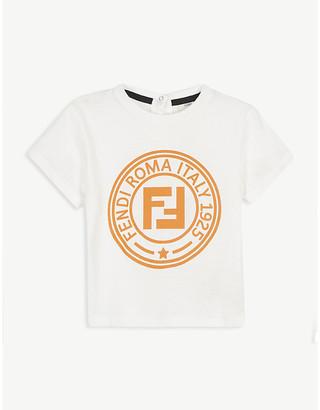Fendi Cotton logo print T-shirt 6-24 months