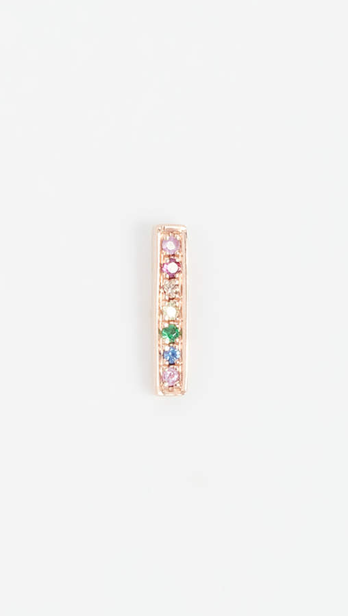 Sydney Evan 14k Rose Gold Small Bar Stud