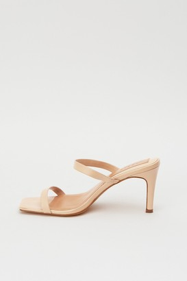 Jaggar TWO STRAP LEATHER HEEL ivory cream