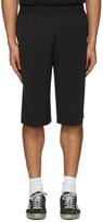 MSGM Black Striped Track Shorts