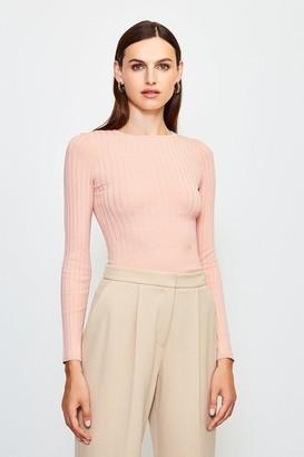 Karen Millen Long Sleeve Knitted Top